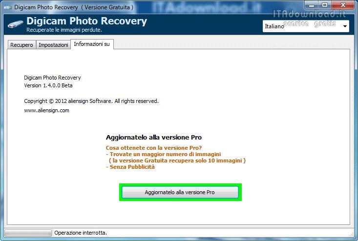 Digicam Photo Recovery 1 8 0 0 - Scarica gratis italiano