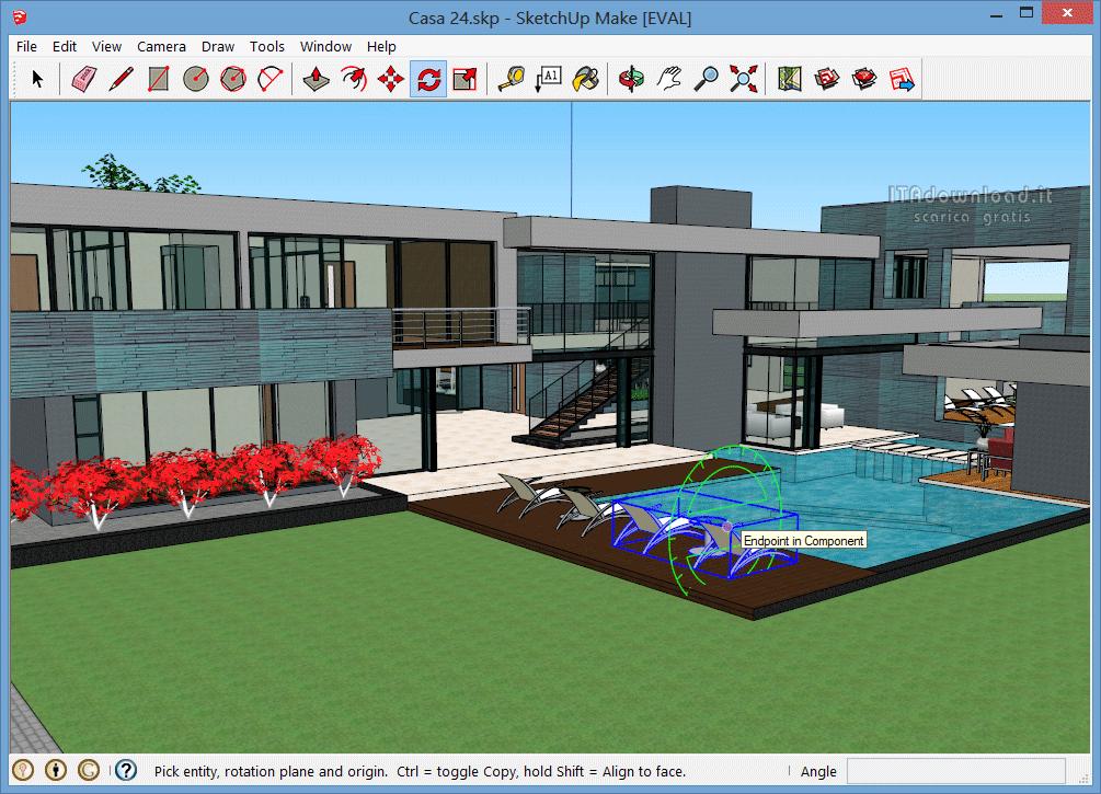Google sketchup 14 scarica gratis italiano for Programma per progettare giardini 3d gratis in italiano