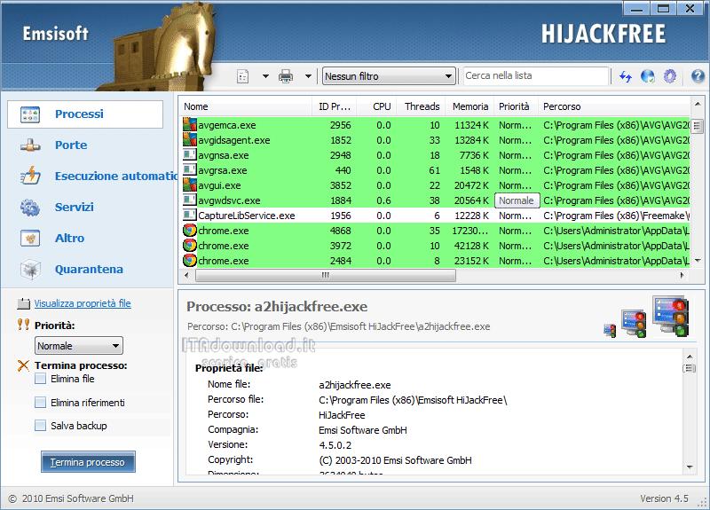 Скачать Emsisoft HiJackFree 4.5.0.2 - бесплатно на Русский