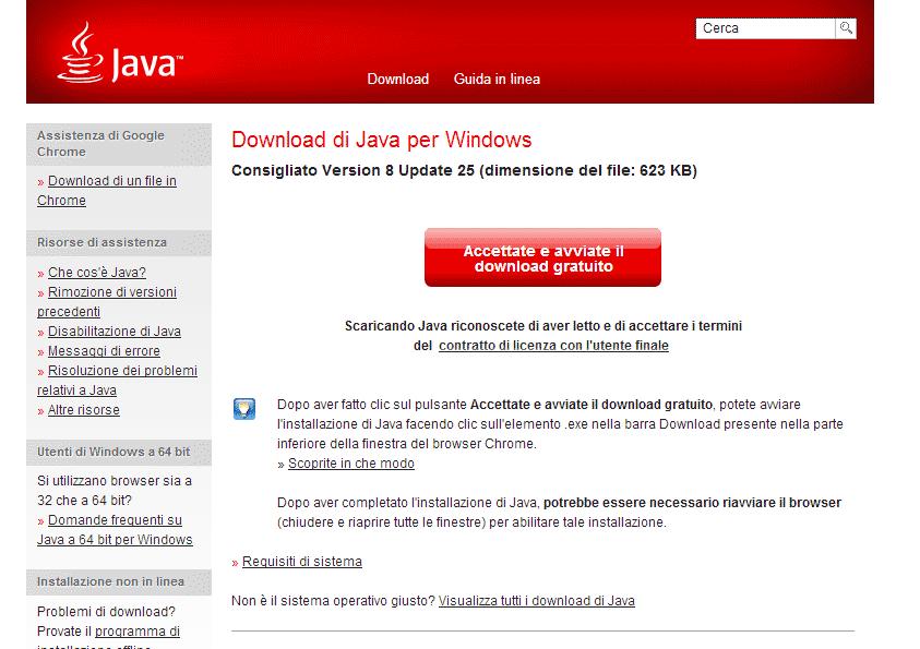 Java SE Runtime Environment (JRE) 8 Update 25 - Scarica gratis