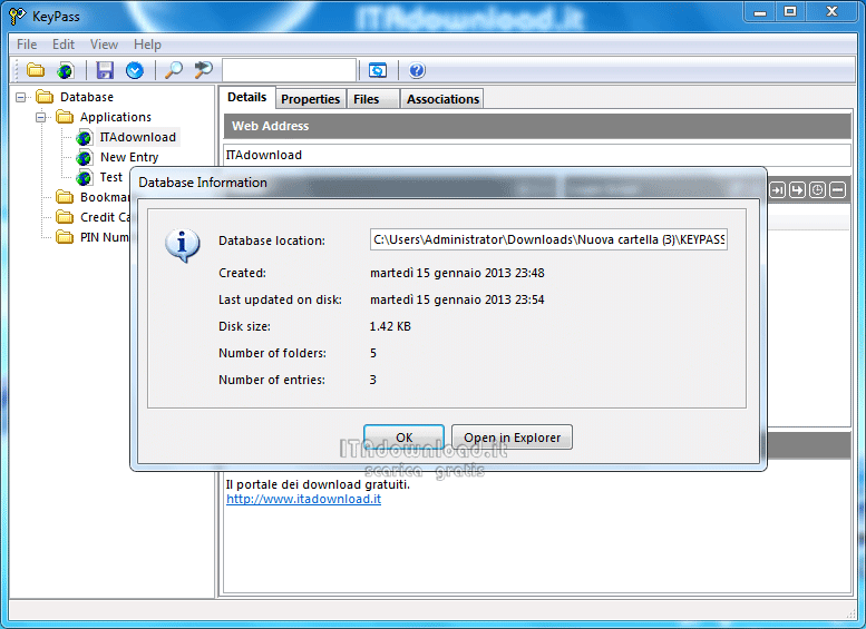 keepass italiano