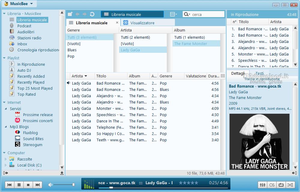 Musicbee 3 scarica gratis italiano gestione musica for Programmi per design gratis