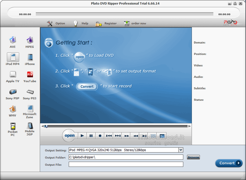 Convert Your Favorite DVD to iPod Video - Plato DVD to ...
