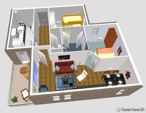 Sweet home 3d 5 6 scarica gratis italiano disegno 3d for Programma per disegnare bagni 3d gratis italiano