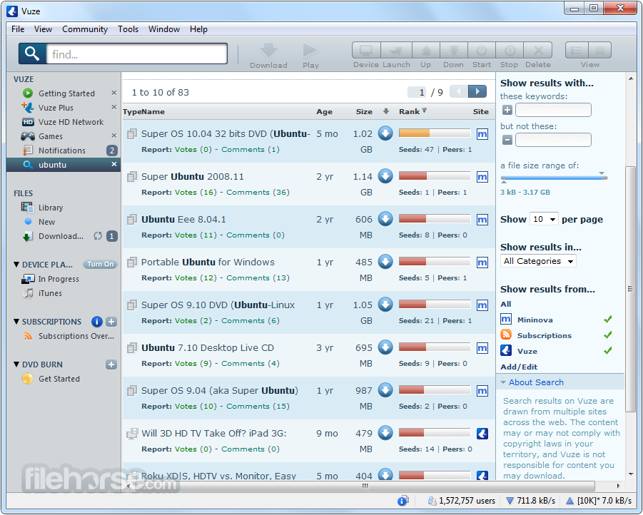 Vuze - Azureus download